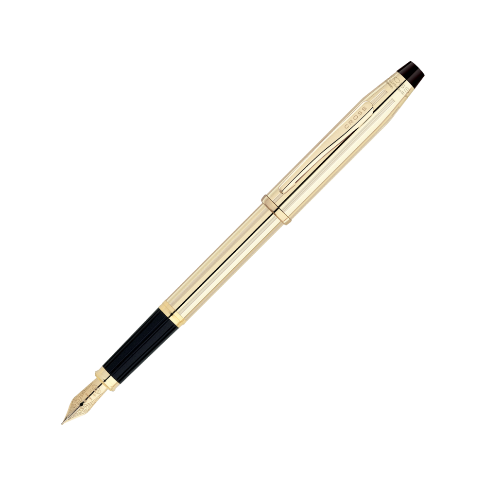 Stylo-plume Century II Ton or jaune plume or 750/1000ème taille medium