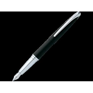 Stylo-plume ATX Basalte Noir plume acier rhodié taille medium