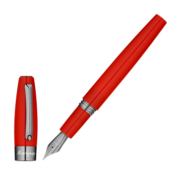 """Stylo-plume """"Montegrappa for Le Stylographe"""" - Rouge - Plume F"""