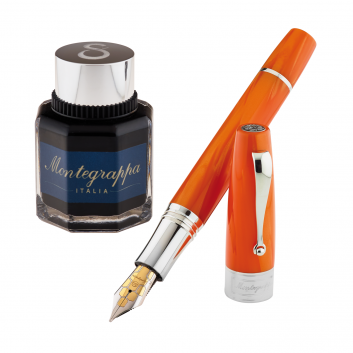 "Stylo-plume ""Montegrappa for Le Stylographe"" - Celluloïd Orange - Plume B"