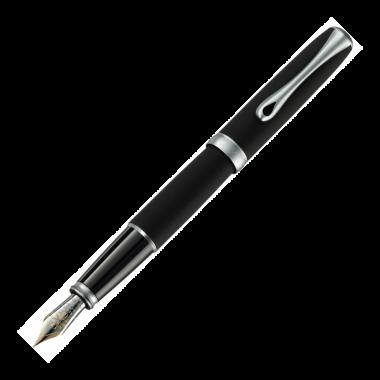 Stylo-plume Excellence A2 lapis noir mat chrome 14 carats - M