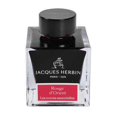 Flacon d'encre Jacques Herbin 50 ml Rouge d'Orient