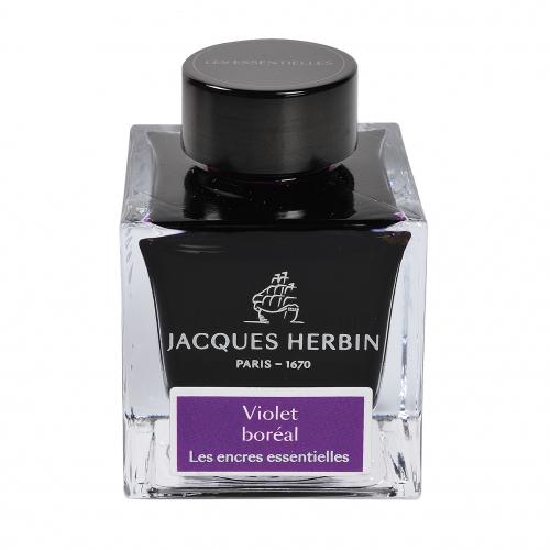Flacon d'encre Jacques Herbin 50 ml Violet Boreal