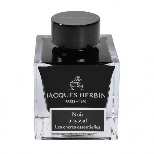 Flacon d'encre Jacques Herbin 50 ml Noir Abyssal
