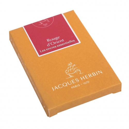 Cartouches d'encre Jacques Herbin - Rouge d'Orient