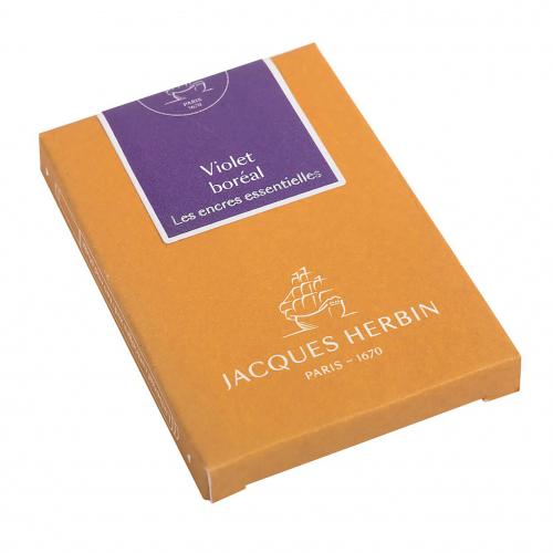 Cartouches d'encre Jacques Herbin - Violet Boreal