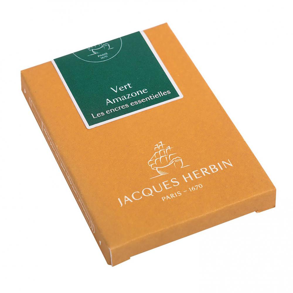 Cartouches d'encre Jacques Herbin - Vert Amazone