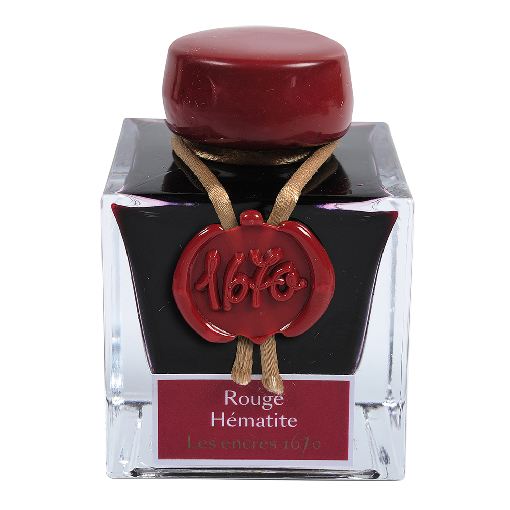Flacon d'encre Jacques Herbin 50 ml - Rouge Hematite