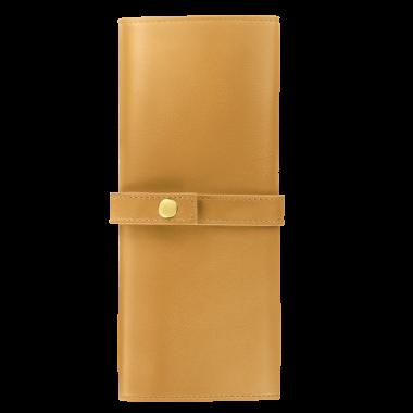 Trousse enveloppante Jacques Herbin - 6 Places - Collectionneur - Ambre