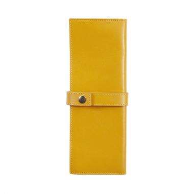 Trousse enveloppante Jacques Herbin - 2 Places - Collectionneur - Ambre