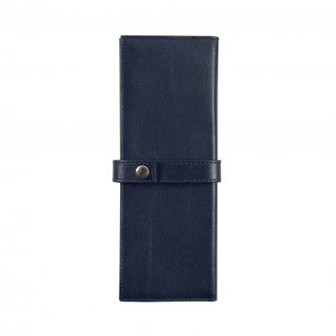Trousse enveloppante Jacques Herbin - 2 Places - Bleu Marine