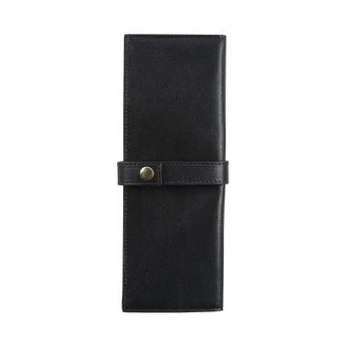 Trousse enveloppante Jacques Herbin - 2 Places - Noir
