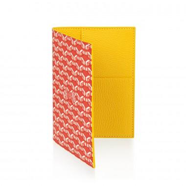 Porte-passeport PINEL & PINEL brooklyn en toile enduite poppy